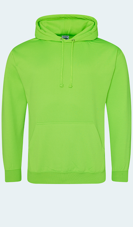 Neon Hoodie in Electric Green