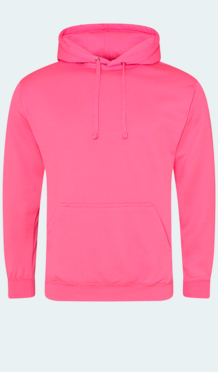 Neon Hoodie in Electric Pink