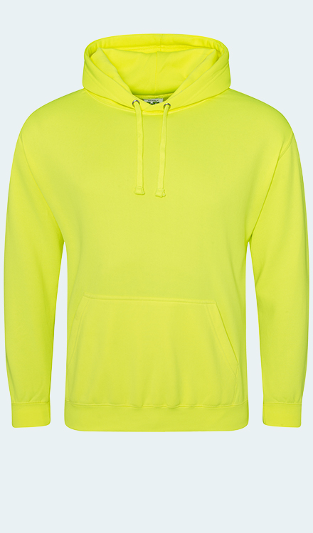 Neon Hoodie in Electric Yellow