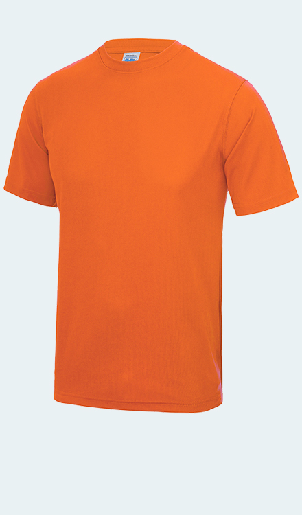 Neon T-Shirt in Electric Orange